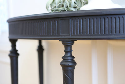 Vintage Modern Black Console Table No 570