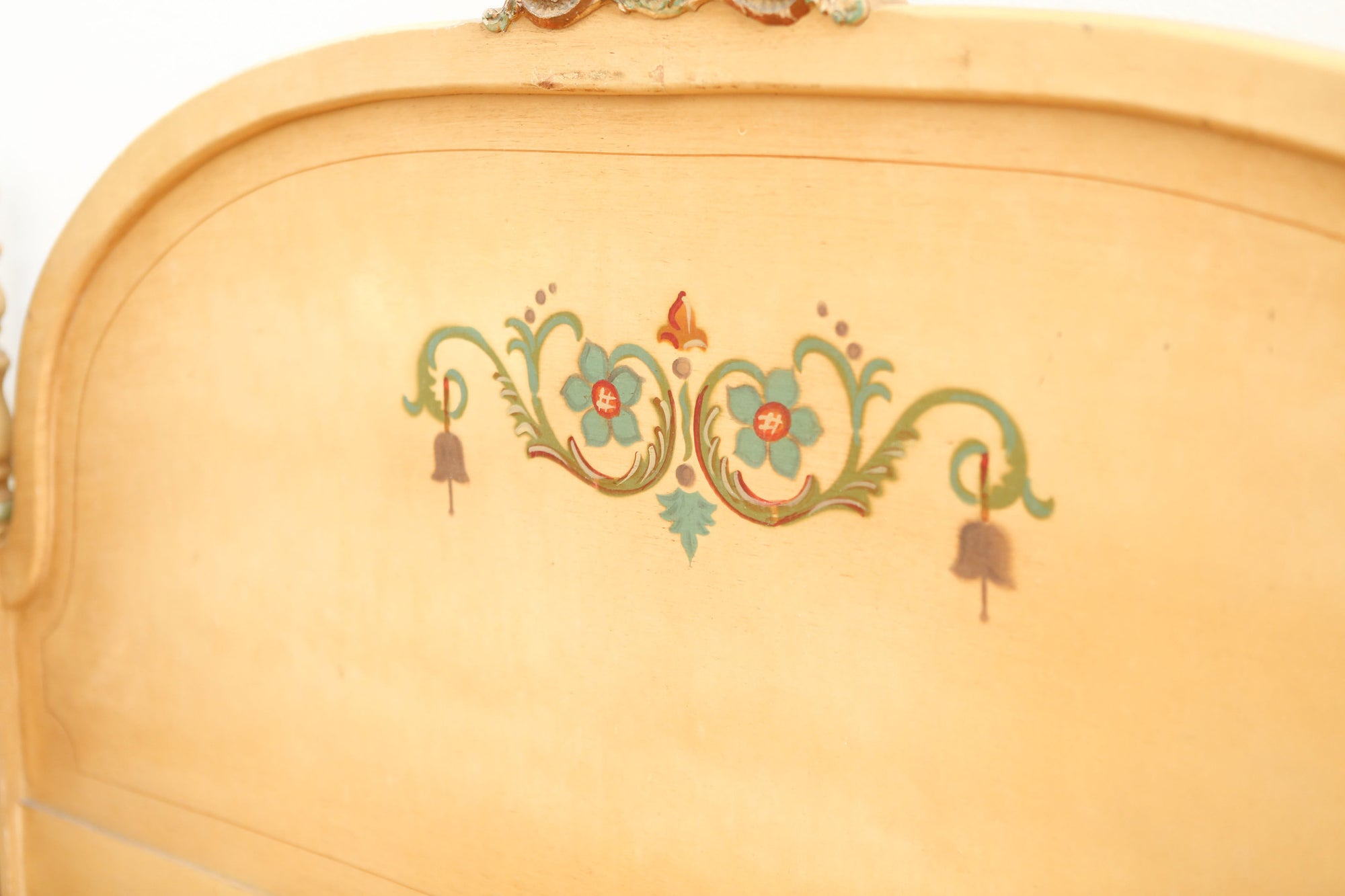 Shabby Chic French Provincial Antique Hand Painted Art Bed Frame Full Shopgoldenpineapple