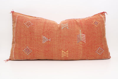 MOROCCAN Double Sided SABRA CACTUS SILK PILLOW LUMBAR No T537 - ShopGoldenPineapple