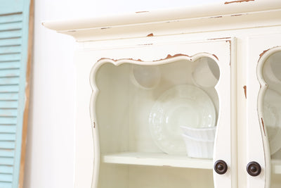 Shabby Chic French Provincial Vintage Hutch with Drawers No148 - ShopGoldenPineapple