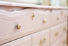 Vintage Shabby Chic Dresser / Credenza with 6 drawers in Baby Pink No345 - ShopGoldenPineapple