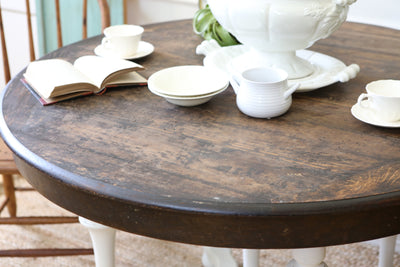 Shabby Chic Vintage Solid Wood Dining Round Table No153