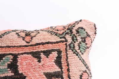 Vintage Moroccan Rug Lumbar Pillow Cover No M8 - ShopGoldenPineapple