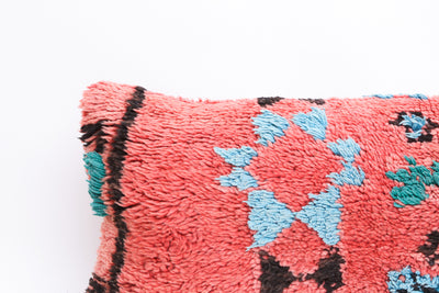 Vintage Moroccan Rug Pillow Cover No M16