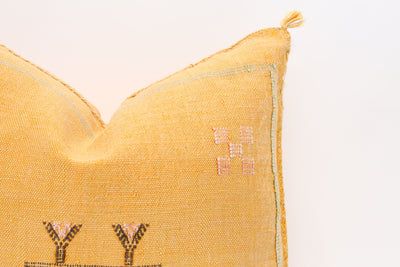 Moroccan Sabra Cactus Silk Pillow No T540 - ShopGoldenPineapple