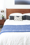 Vintage Indigo Kantha Quilt Throw - King Size No KA008