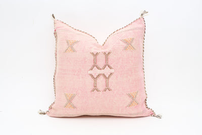 Moroccan Sabra Cactus Silk Pillow No T701 - ShopGoldenPineapple