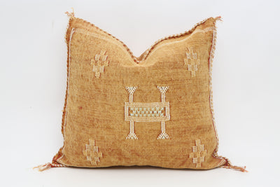 Moroccan Sabra Cactus Silk Pillow No T704 - ShopGoldenPineapple
