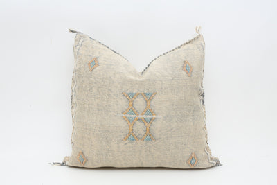 MOROCCAN SABRA CACTUS SILK PILLOW - A PAIR No T705 - ShopGoldenPineapple