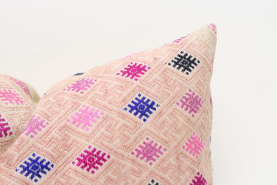 VINTAGE HMONG EMBROIDERED WEDDING BLANKET PILLOW - T717 - ShopGoldenPineapple