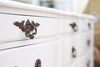 Shabby Chic French Provincial Vintage Dresser, Buffet, White with Mirror No 376 - ShopGoldenPineapple