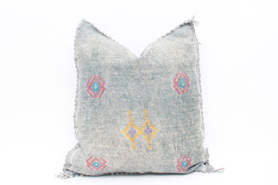 Moroccan Sabra Cactus Silk Pillow No T542 - ShopGoldenPineapple