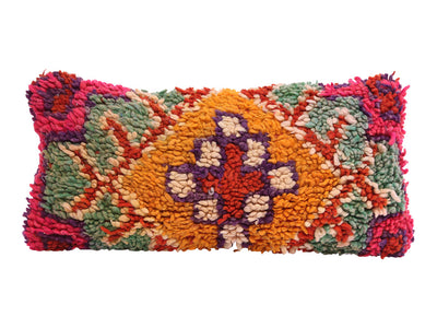 Vintage Moroccan Rug Lumbar Pillow Cover No M14 - ShopGoldenPineapple