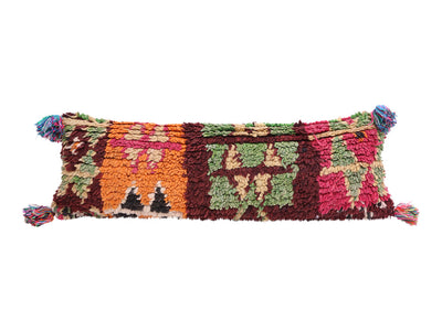 Vintage Moroccan Rug Lumbar Pillow Cover No M17