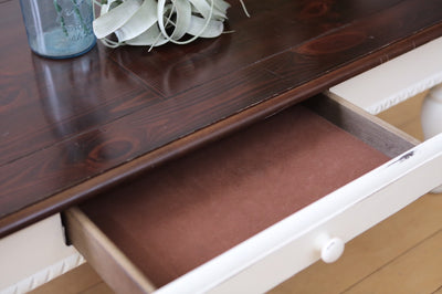 Shabby Chic French Provincial Vintage Coffee Table with Drawer No76 - ShopGoldenPineapple