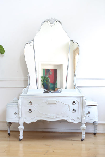 Antique Vanity With Mirror No 692 - ShopGoldenPineapple