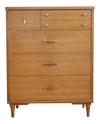 Mid Century Modern High Chest of Drawers No 696 - ShopGoldenPineapple