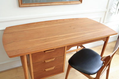Lane Mid Century Modern Solid Walnut Desk & Chair - a Pair No 669 - ShopGoldenPineapple