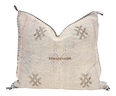Moroccan Sabra Cactus Silk Pillow No TT510 - ShopGoldenPineapple