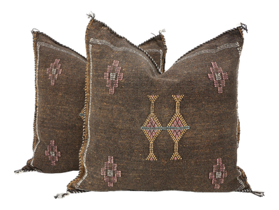 Moroccan Sabra Cactus Silk Pillow Cover - a Pair No P751p - ShopGoldenPineapple