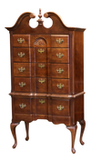 Queen Anne Highboy Dresser Chest - ShopGoldenPineapple