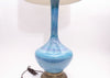 Vintage Large Mid Century Modern Glazed Pottery Blue Lamp by Phil Mar No 631 - ShopGoldenPineapple