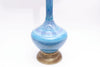 Vintage Large Mid Century Modern Glazed Pottery Blue Lamp by Phil Mar No 631