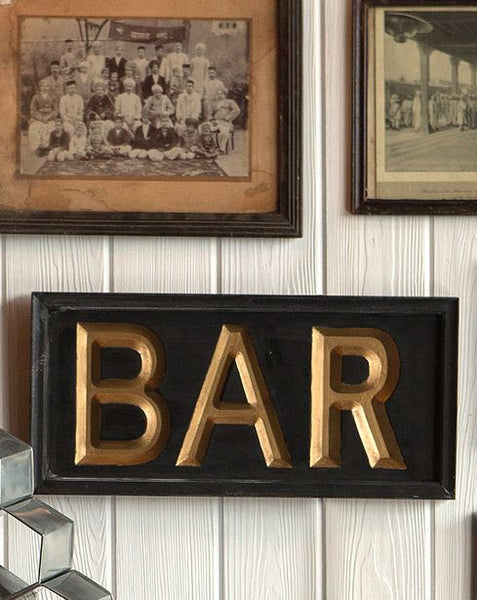 Black & Gold Bar Sign - Magnolia Manoir
