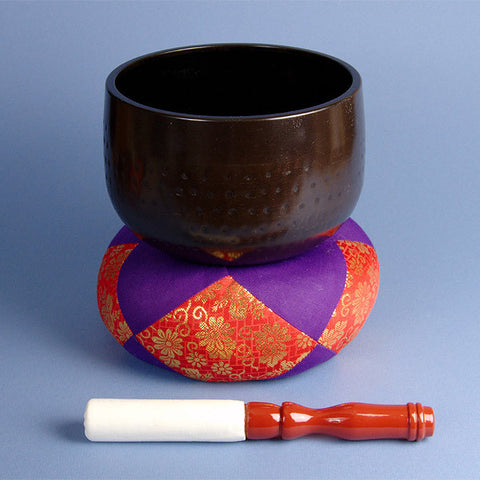 Rin gong meditation bell for meditation or yoga center. Rin gongs are rung at the beginning and end of a meditation.