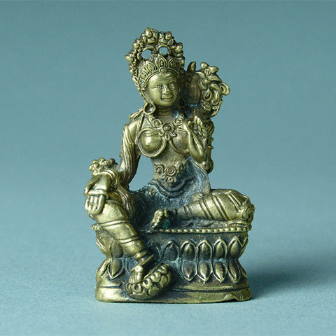 Green Tara statue, Tibetan Buddhist deity of compassion, sometimes referred to as the female Buddha