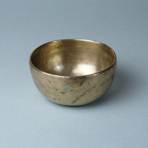 Tibetan, or Himalayan singing bowl, in a deep-sided Orissa style, useful for meditation and relaxation.