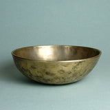 Tibetan, or Himalayan singing bowl, used for meditation and relaxation, showing the lovely hand-hammered marks of the antique bowls.