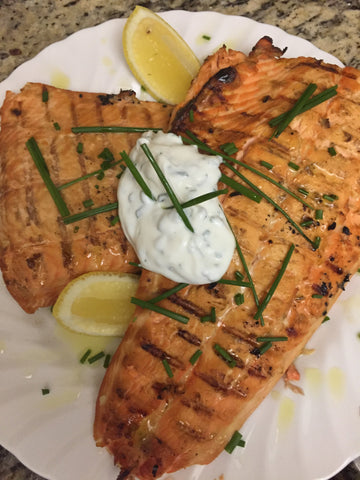 Meyer Lemon/Dijon Glazed Salmon