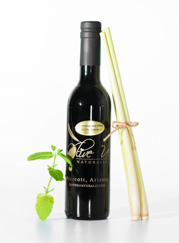 Lemongrass Mint White Balsamic Vinegar - Olive U Naturally