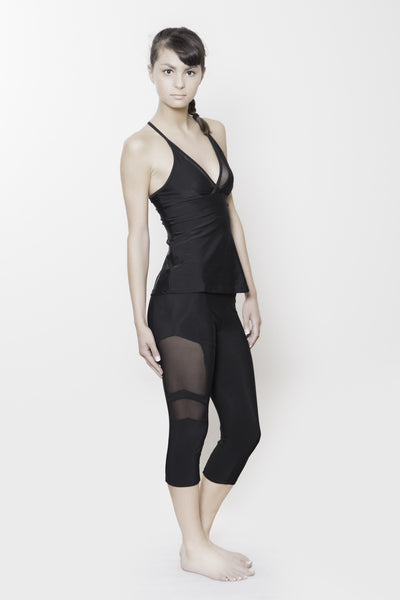 Crossover Softsport tank with mesh detail in black.