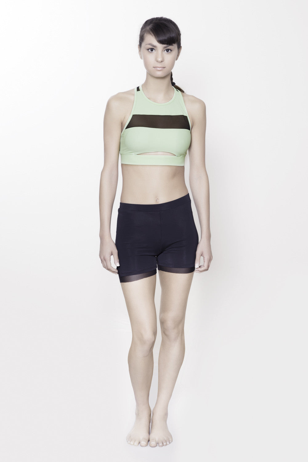 Midriff Cutout Bratop in Mint.