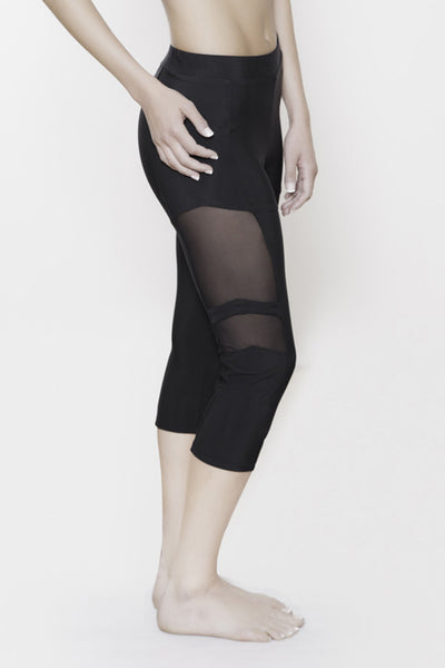 Bionic Capri with Mesh detail.