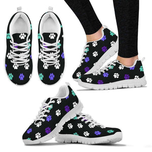 WOMEN'S PAW PRINT SHOES - Life is complete with Dogs