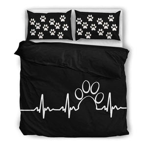 Paw Heartbeat bedding duvet - Life is complete with Dogs