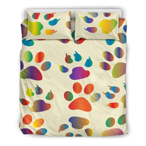 Dog Paw Bedding Set - Life is complete with Dogs