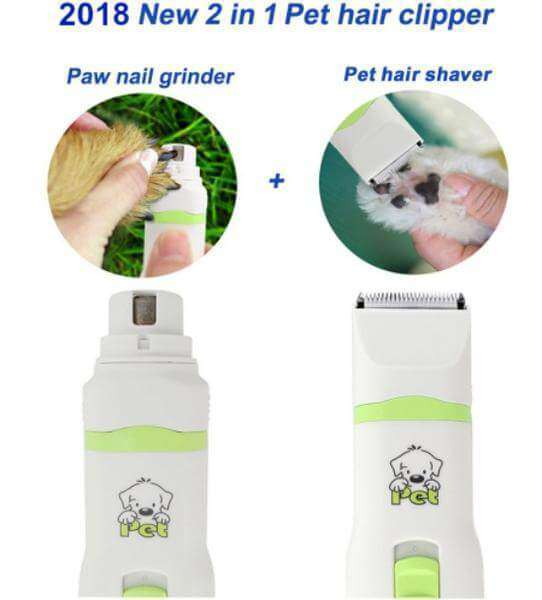 2 in 1 Trimmer & Paw Nail Grinder Set - Life is complete with Dogs