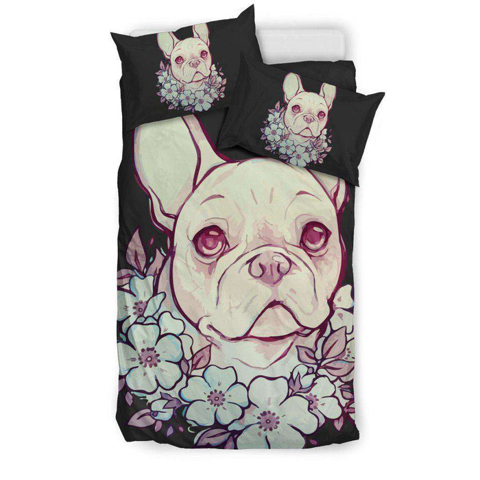 FLOWER FRENCH BULLDOG BEDDING SET - Life is complete with Dogs