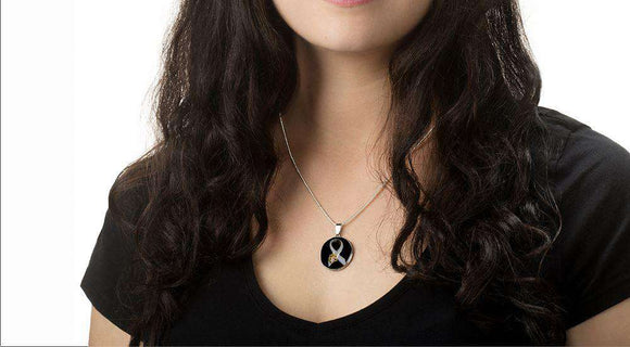 "Limited Edition ""Stand Against Animal Abuse"" Awareness Necklace - Life is complete with Dogs"