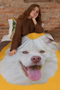 Personalized Blanket With your Pet's Face On It