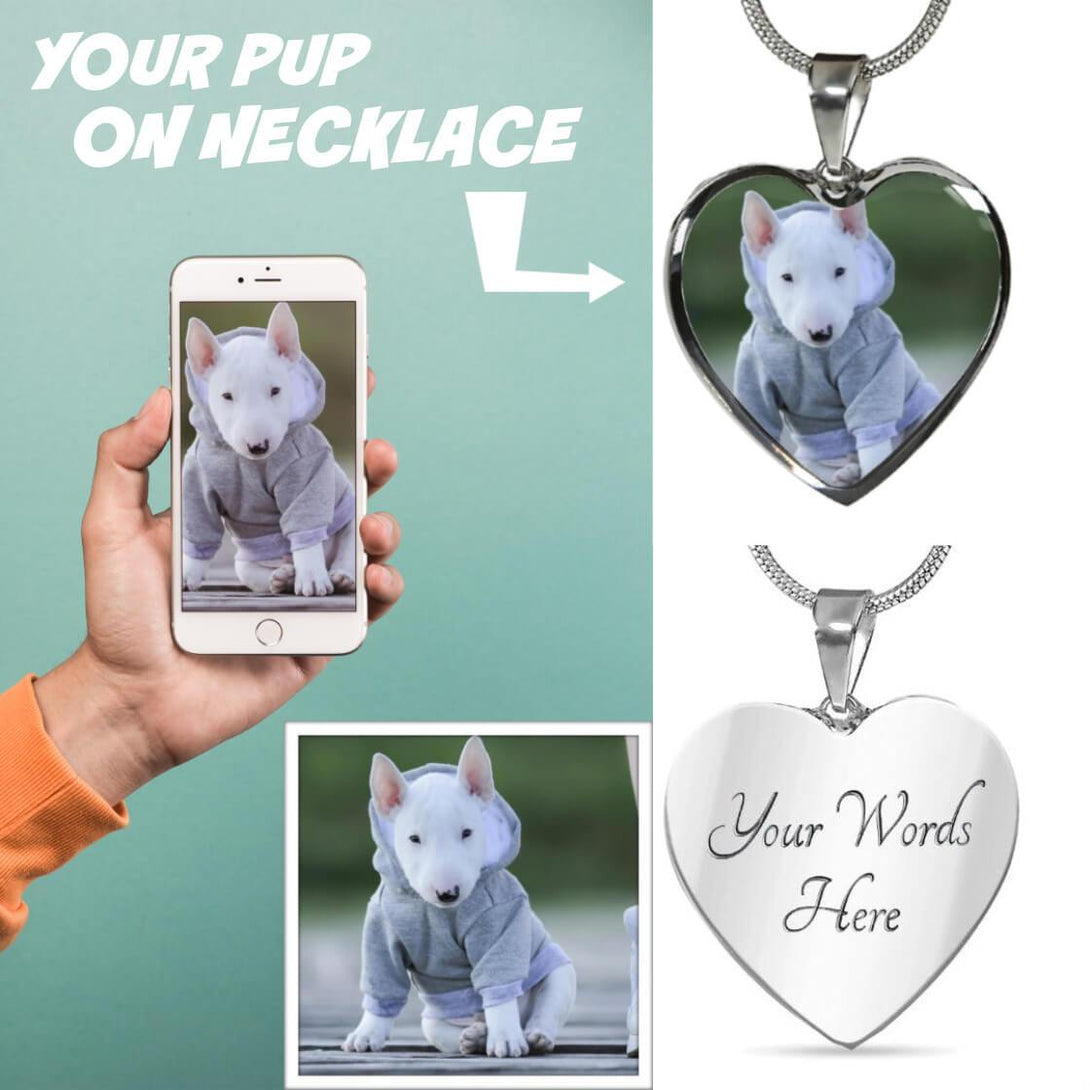 Personalized Heart Pup Necklace