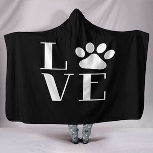NP Love Dogs Hooded Blanket - Life is complete with Dogs