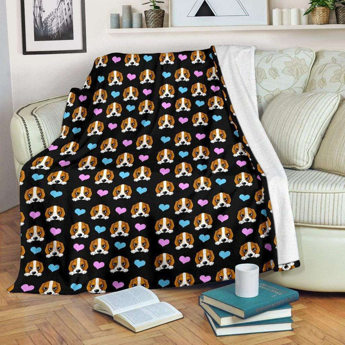 Dog Lovers Beagle Blanket - Life is complete with Dogs