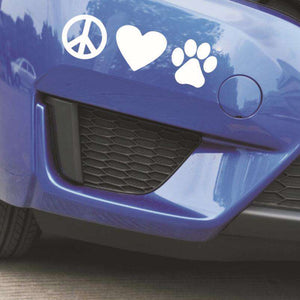 Love Paw Dog Decal - Life is complete with Dogs