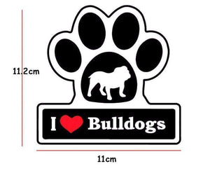 I LOVE Bulldogs Decal - Life is complete with Dogs