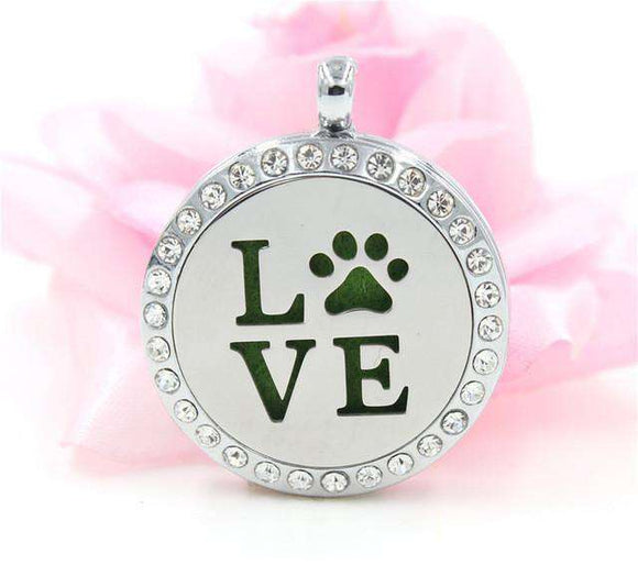 Love For Paws Aromatherapy Locket Necklace - Life is complete with Dogs